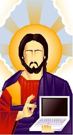 Jesus with Computer
